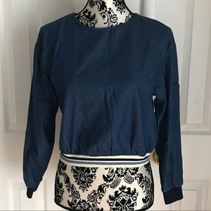 Zara Chambray Top with Button Up Back